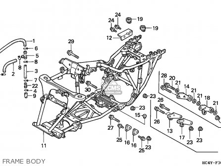 Honda Trx300 Fourtrax 1992 England parts list partsmanual