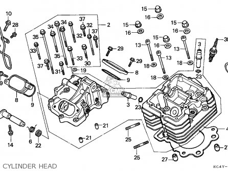 Honda Trx300 Fourtrax 1992 (n) Canada parts list