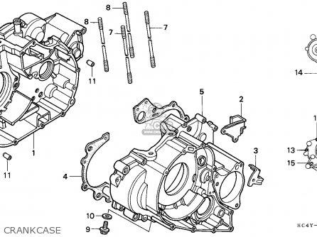 Honda TRX300 FOURTRAX 1993 (P) CANADA parts lists and