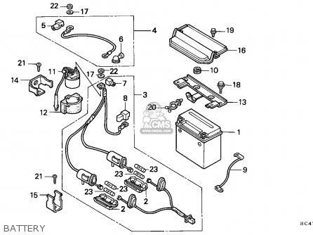 Honda TRX300 FOURTRAX 1993 (P) ENGLAND parts lists and