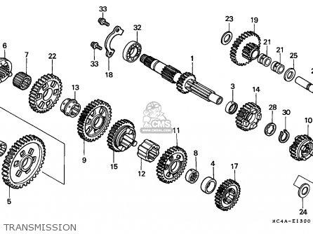 Honda TRX300 FOURTRAX 1994 (R) USA parts lists and schematics