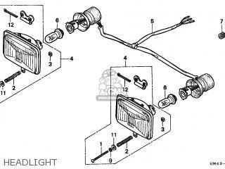 Honda TRX300 FOURTRAX 1997 (V) CANADA REF parts lists and