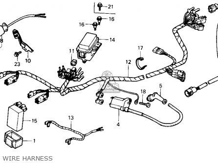 Honda Trx300 Fourtrax 300 1988 Usa parts list partsmanual