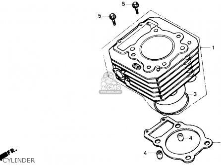 Honda TRX300 FOURTRAX 300 1989 (K) USA parts lists and