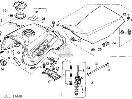 Honda Trx300 Fourtrax 300 1989 Usa parts list partsmanual