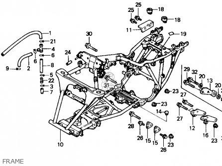 Honda Trx300 Fourtrax 300 1991 (m) Usa parts list