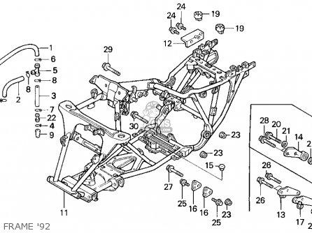 Honda Trx300 Fourtrax 300 1992 (n) Usa parts list