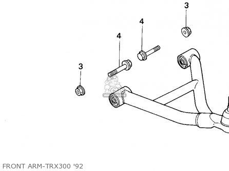 Honda TRX300 FOURTRAX 300 1992 (N) USA parts lists and