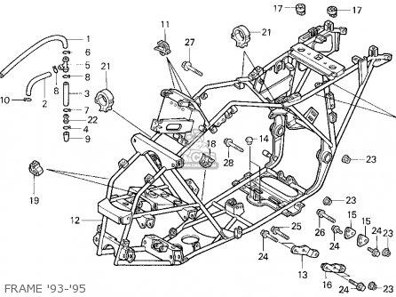 Honda Trx300 Fourtrax 300 1993 (p) Usa parts list