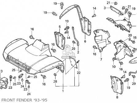 Honda Trx300 Fourtrax 300 1994 (r) Usa parts list