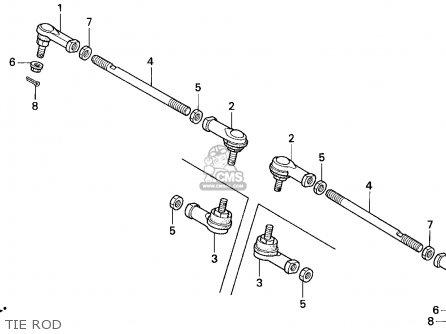 Honda Trx300 Fourtrax 300 1995 (s) Usa parts list partsmanual partsfiche