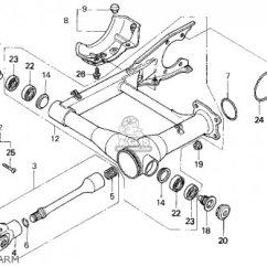 Honda Recon 250 Rear Axle Diagram Club Car 12v Battery Wiring Trx300 Fourtrax 300 1995 Usa Parts List Partsmanual Partsfiche