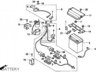 Honda Trx300 Fourtrax 300 1996 (t) Usa parts list