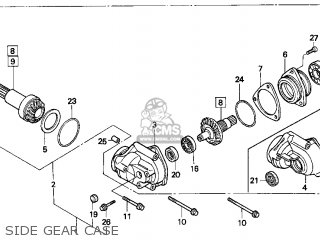 1996 Honda Fourtrax Carburetor Schematics Honda TRX 125 4
