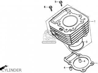 Honda Trx300 Fourtrax 300 1997 (v) Usa parts list