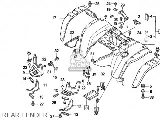 Honda TRX300 FOURTRAX 300 1999 (X) USA parts lists and