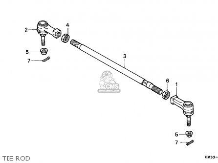 Honda TRX300EX FOURTRAX 1993 (P) CANADA parts lists and