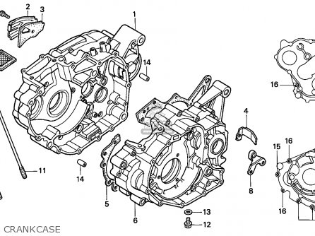 Honda TRX300EX FOURTRAX 1993 (P) USA parts lists and