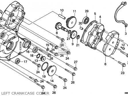 Honda Trx300ex Fourtrax 1995 (s) Canada parts list