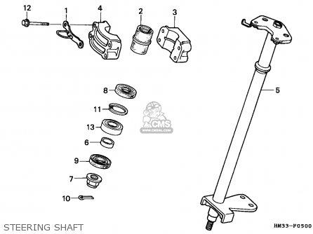 Honda TRX300EX FOURTRAX 1995 (S) CANADA parts lists and