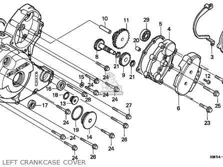 Honda TRX300EX FOURTRAX 1995 (S) USA parts lists and