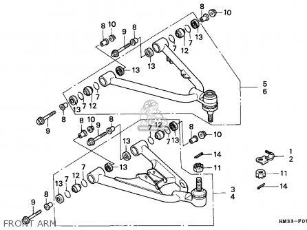 Honda Trx300ex Fourtrax 1996 (t) Canada parts list