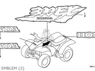 Honda Trx300ex Fourtrax 1997 Canada parts list partsmanual
