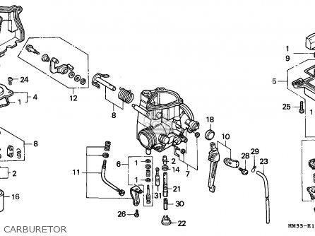 Honda Trx300ex Fourtrax 1998 Canada parts list partsmanual