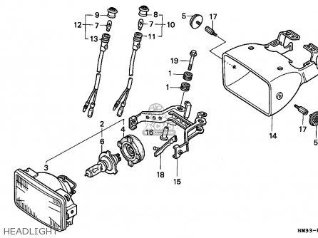 Honda TRX300EX FOURTRAX 1998 (W) CANADA parts lists and