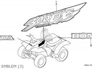 Honda TRX300EX FOURTRAX 1998 (W) USA parts lists and