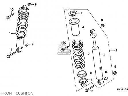 Honda Trx300ex Fourtrax 1999 (x) Usa parts list