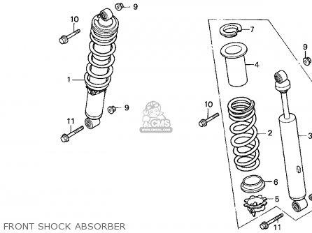 Honda TRX300EX FOURTRAX 300EX 1993 (P) USA parts lists and