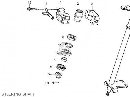 Honda Trx300ex Fourtrax 300ex 1993 (p) Usa parts list