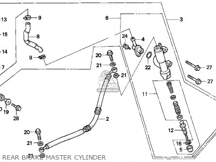 Honda Trx300ex Fourtrax 300ex 1993 Usa parts list