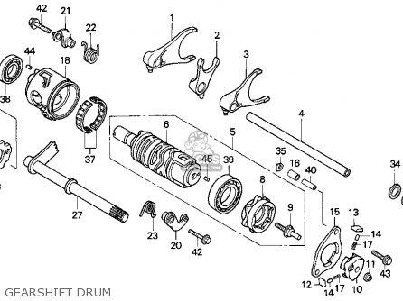 Honda Trx300ex Fourtrax 300ex 1994 (r) Usa parts list
