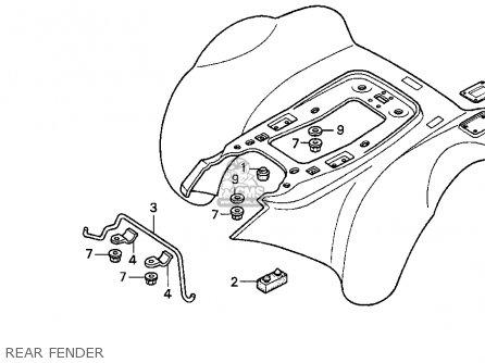 Honda Trx300ex Fourtrax 300ex 1995 (s) Usa parts list partsmanual partsfiche