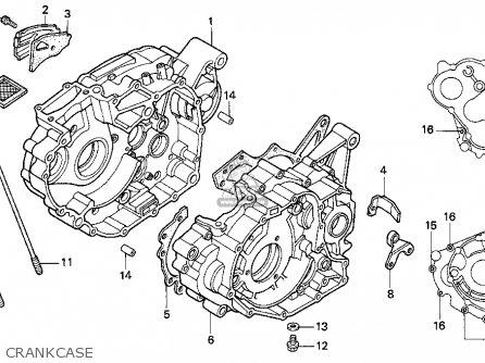 Honda Trx300ex Fourtrax 300ex 1996 (t) Usa parts list