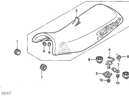 Honda TRX300EX FOURTRAX 300EX 1996 (T) USA parts lists and