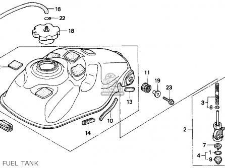 Honda Trx300ex Fourtrax 300ex 1997 (v) Usa parts list