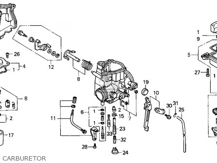 Honda Trx300ex Fourtrax 300ex 1998 Usa parts list