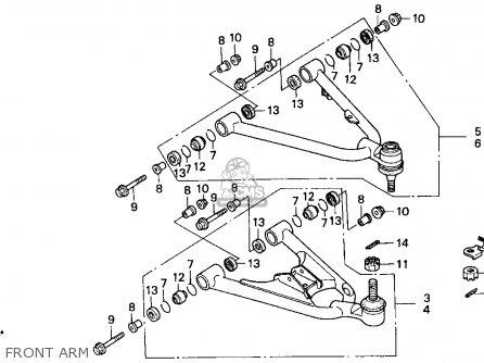 Honda TRX300EX FOURTRAX 300EX 1998 (W) USA parts lists and
