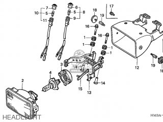 Honda TRX300EX SPORTRAX 2002 (2) USA parts lists and