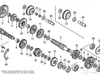 Honda TRX300EX SPORTRAX 2008 (8) USA parts lists and