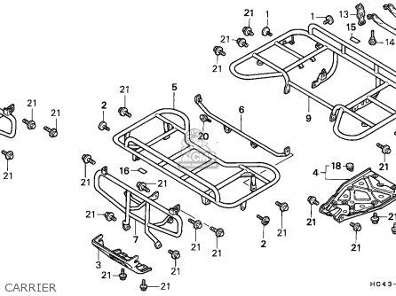 Honda TRX300FW FOURTRAX 1988 (J) ENGLAND parts lists and