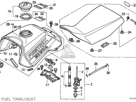 Honda Trx300fw Fourtrax 1988 (j) England parts list