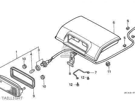Honda TRX300FW FOURTRAX 1989 (K) ENGLAND parts lists and