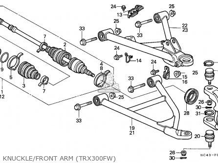 Honda TRX300FW FOURTRAX 1990 (L) ENGLAND parts lists and