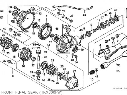 Honda Trx300fw Fourtrax 1991 England parts list
