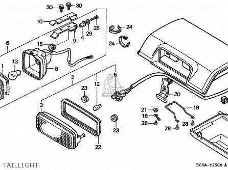 Honda TRX300FW FOURTRAX 1994 (R) USA parts lists and