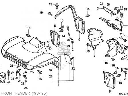 Honda Trx300fw Fourtrax 1994 U.s.a (except California